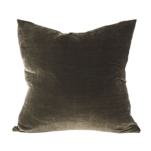 Silk Velvet Cushion - Grey